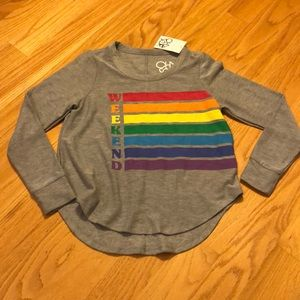 NWT chaser gray weekends sweatshirt size Small